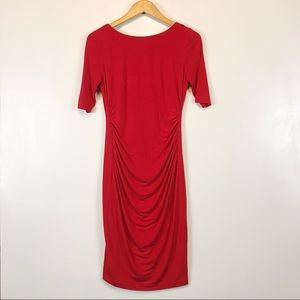 Vince Camuto Women's Red Bodycon Dress Size 6